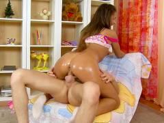 Brunette lovedoll's sex video scene 1